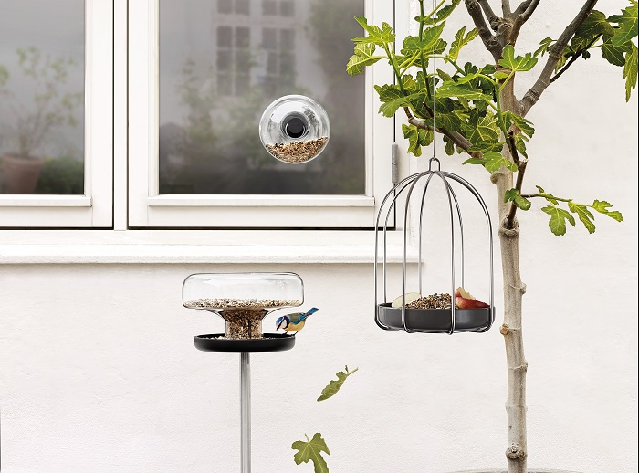 Contemporary bird feeding stations by Eva Solo